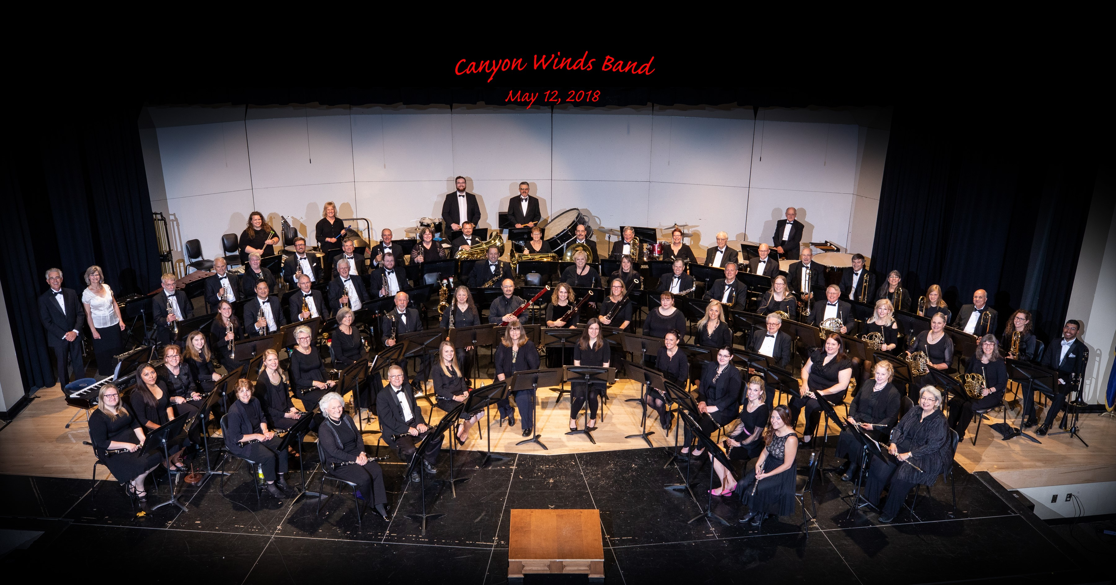 Canyon Winds Personnel from May 2018 Concert