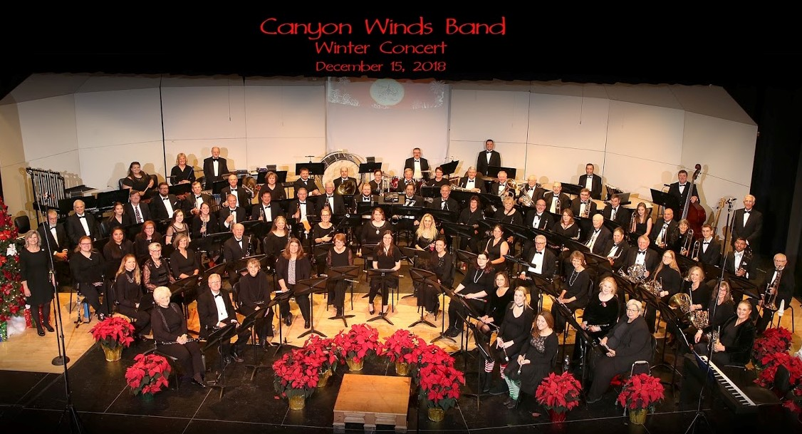 Canyon Winds Personnel from December 15, 2018 Concert